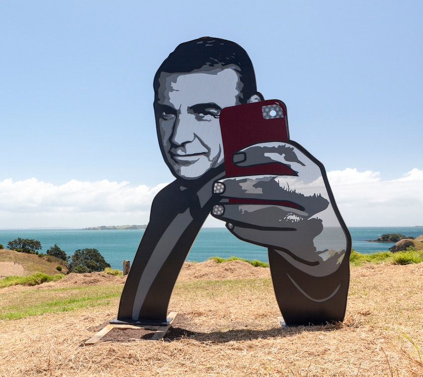<p>From the 2015 exhibtion, Waiheke artist Anah Dunsheath's S<em>ee You See Me</em> naturally encouraged many more mobile phone selfies.</p>
