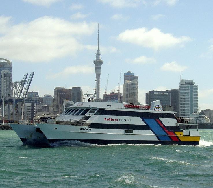 <p>The catamaran. <em>Quickcat</em> began her Waiheke service on Tuesday 10 March 1987.</p>