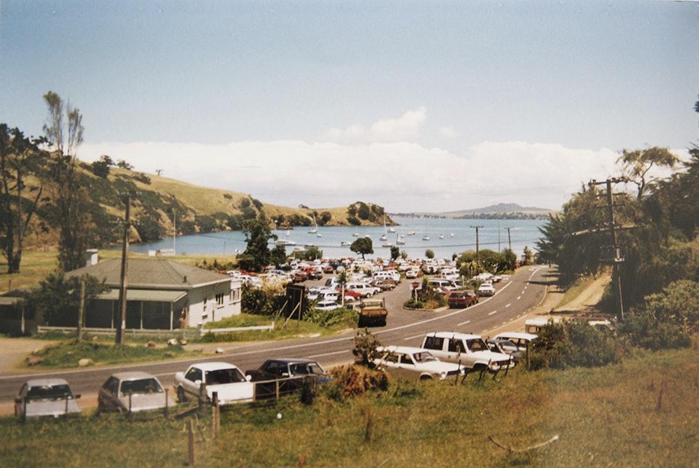 <p>Matiatia Bay from Ocean View Road, c1980s. <em>Bruce Croll collection.</em></p>