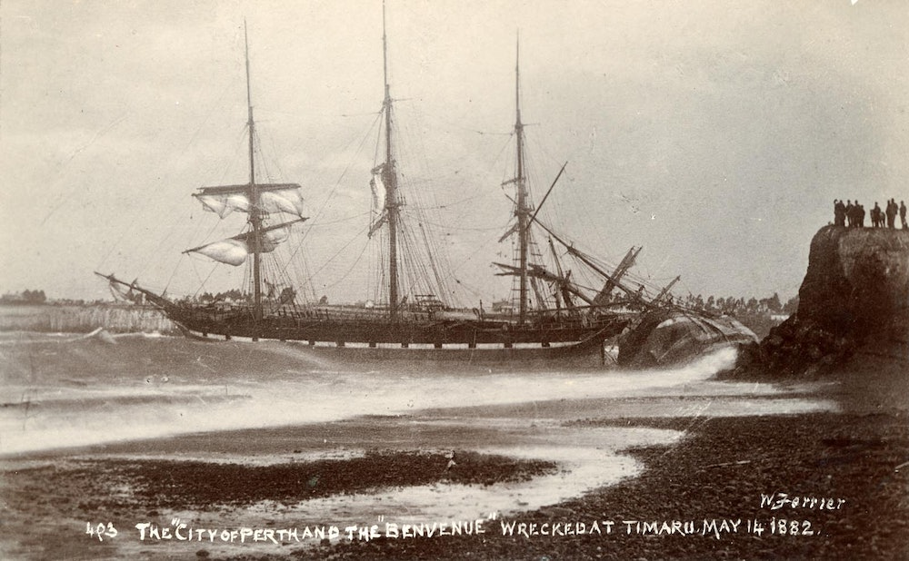 <p>The 'City of Perth' and the 'Benvenue' shipwrecked May 14 1882.</p>