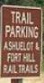 <p>Trail Parking sign</p>