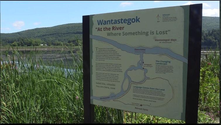 <p>Wantastegok - new sign at Retreat Farm &amp; Meadows</p>