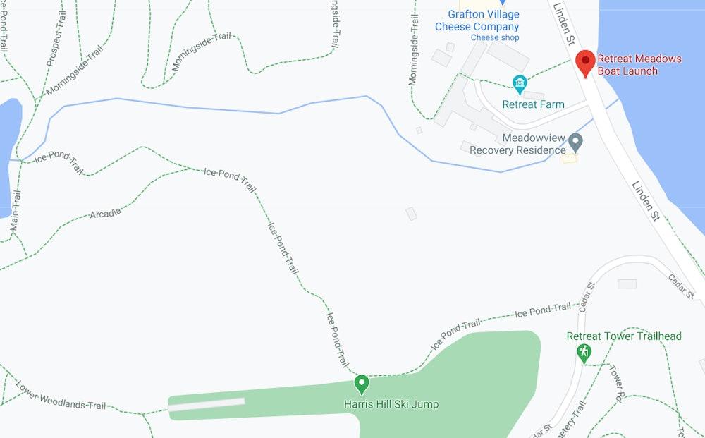 <p>Retreat Farm &amp; Meadows - boat launch area</p>