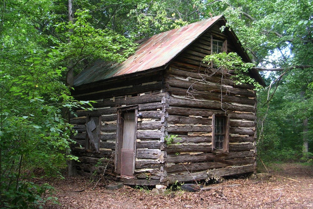 """<p>The nearby Patrick Robert """"Parker"""" Sydnor log cabin, is listed on the Virginia Landmarks Register and the National Register of Historic Places</p>"""
