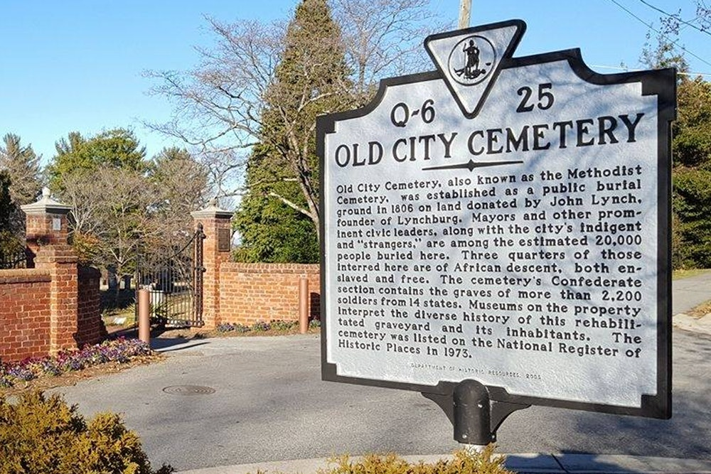 <p>Old City Cemetery Historic Marker</p>