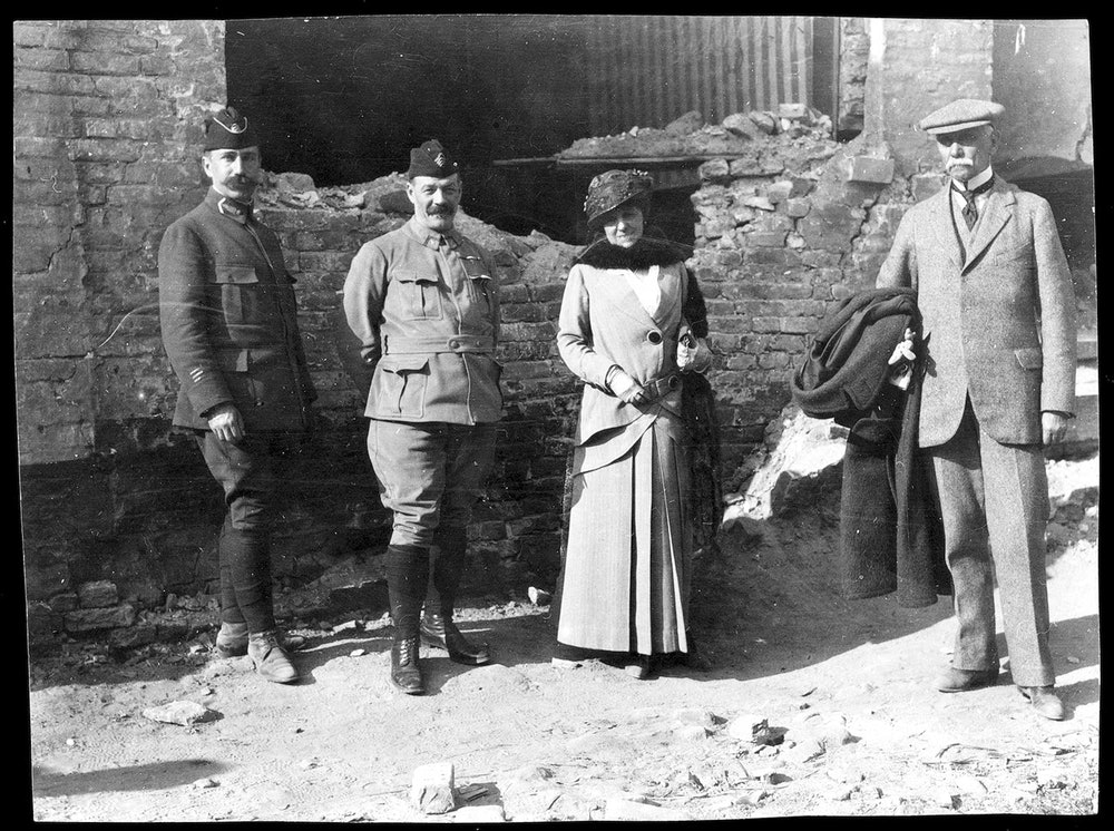 <p>Edith Wharton at the front in France during World War I</p>