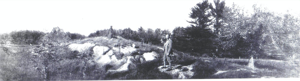 <p>Edith and Teddy Wharton siting the property in 1901</p>