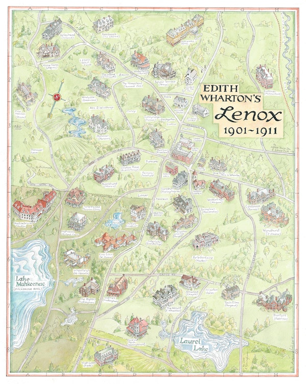 <p>Map of the mansions of Lenox during Edith and Teddy's time there</p>