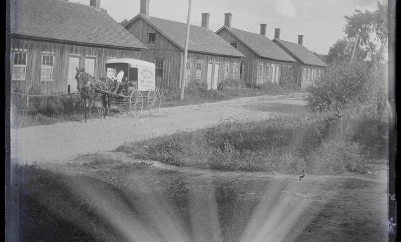 <p>Early image of Lenox Dale, the local village</p>
