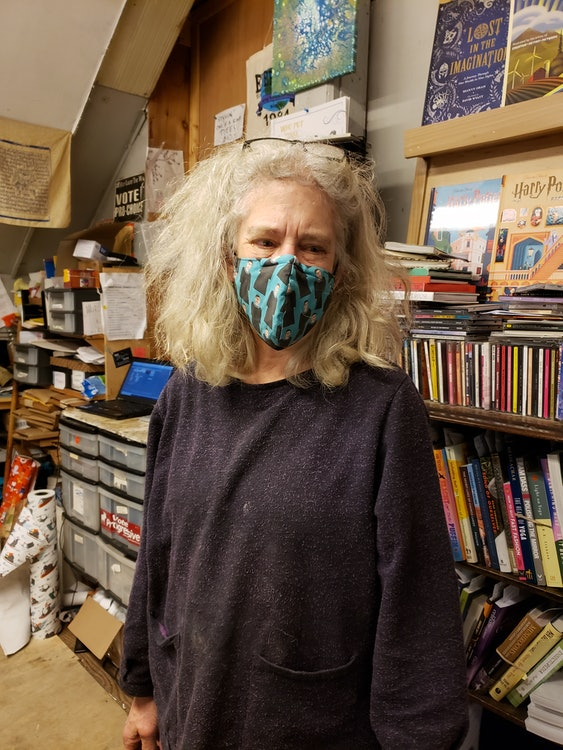 <p>Nancy Braus, co-owner of Everyone's Books</p>