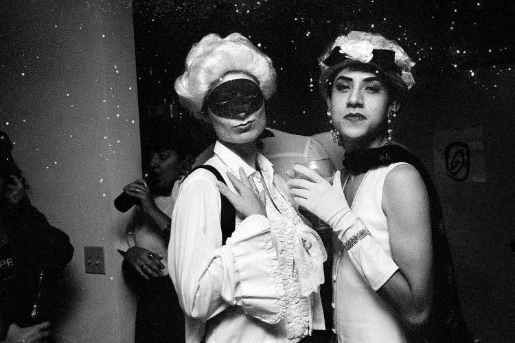 <p>Reynaldo Rivera, <em>Elyse Regehr and Javier Orosco, Downtown LA</em>, 1989. Digital prints from negatives. 30 x 45 in. (76.2 x 114.3 cm).</p>